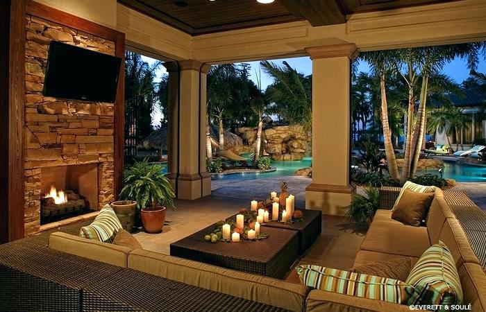 backyard-living-space-ideas-outdoor-living-rooms-with ... on Garden And Outdoor Living id=81304