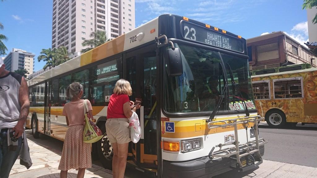23番のバスです