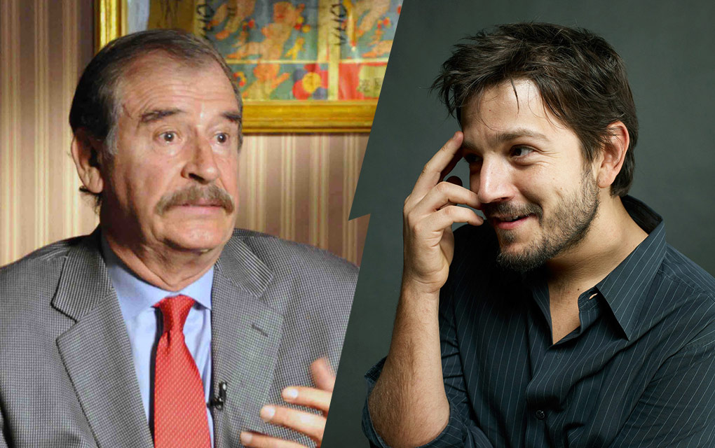 Vicente Fox y Diego Luna estarán en show de Conan O' Brien