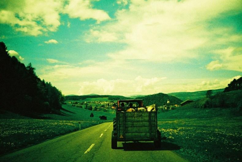 Vieh-Transport nach Kastelruth