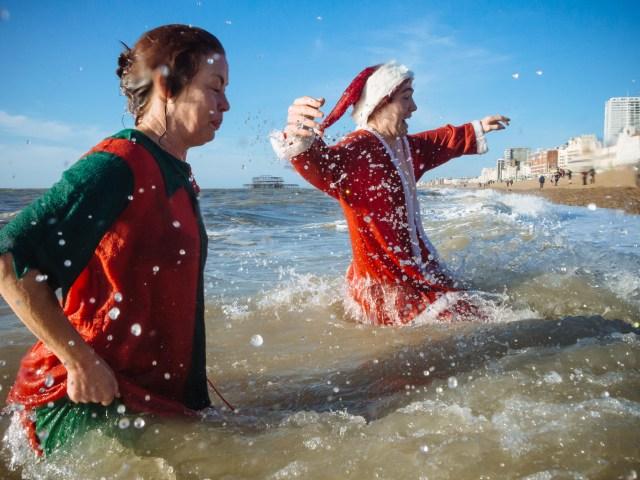 Brighton Christmas day swim 2014