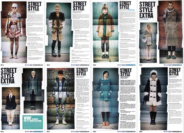 Spreads from Brighton Source's street style section