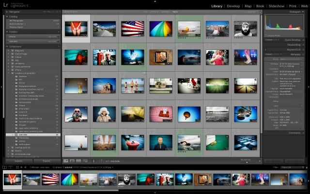Adobe Lightroom 5 library