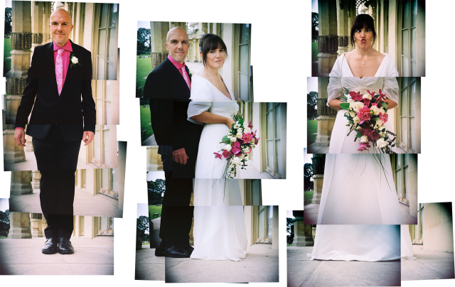 married couple montage portrait lisa and alex bamford