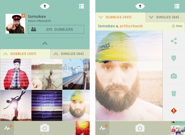 dubble iphone iOS app user interface