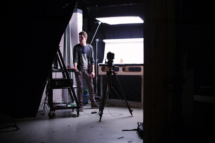 Student on internship animating Morph