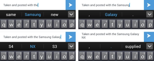 Android predictive text