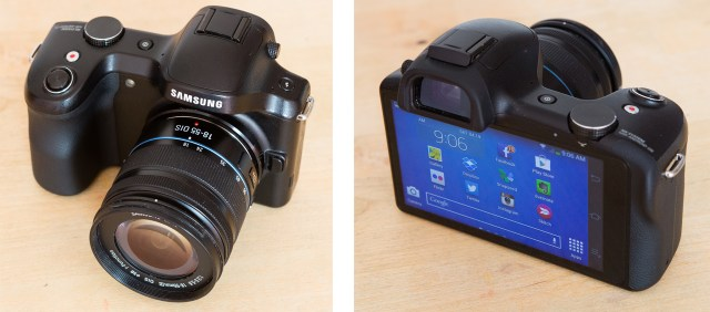 Samsung Galaxy NX back and front