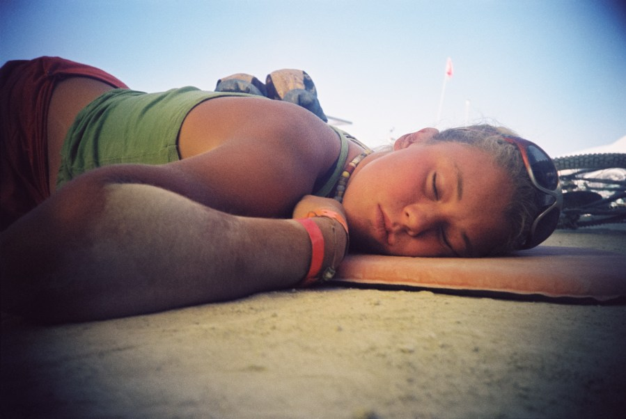 Burning Man sleeping 2005 by Kevin Meredith