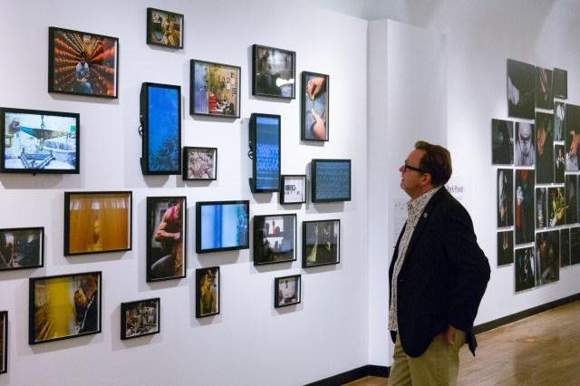 Jonas Bendiksen's multi media display