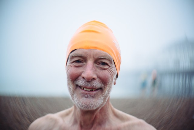 Brighton Swimming Club member Bob taken with the lomography petzval 58mm