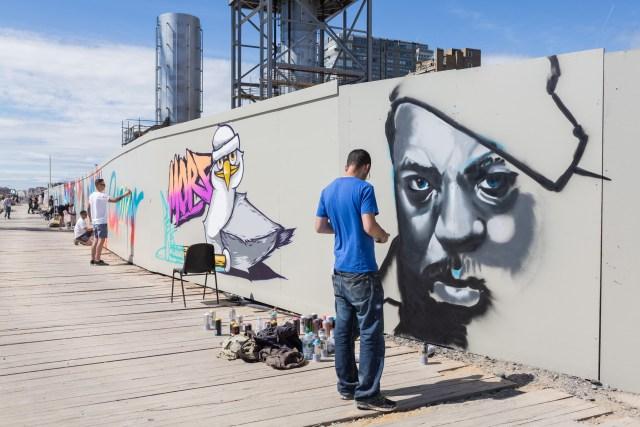 Graffiti artist AVK