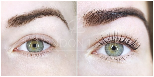 b0edb9c112d Before and after picture of Lash Filler treatment. Natural lashes are  thicker, ...