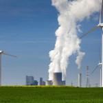 green energy against power plant