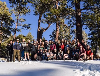 Cohort 3 on Mount San Jacinto, during the 2017 California Field class. Image by Matthew Thirlwall.