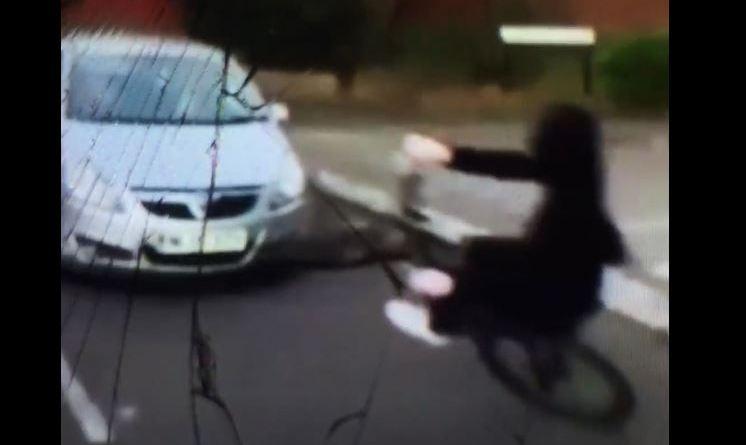 Moment Wheelie Stunt Boy Collides into a car a NEW craze