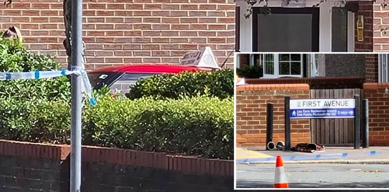 Police were called at 9.53am to reports of a collision involving a red Peugeot 307 and a pedestrian in First Avenue, Watford.