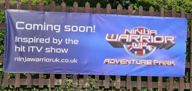 Ninja Warriors, banner, new, Watford