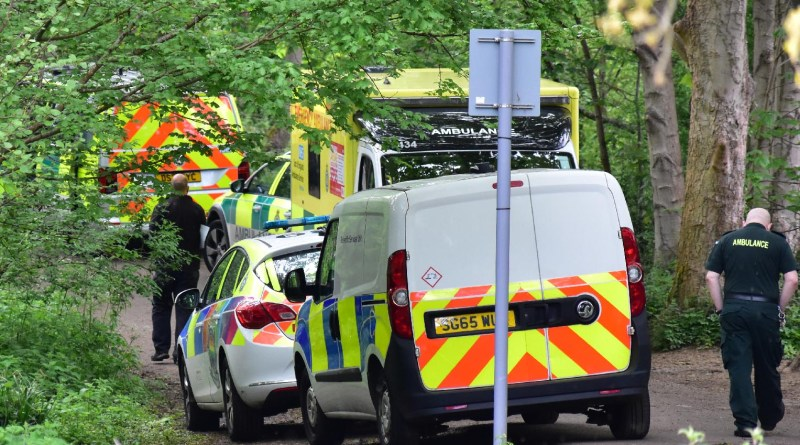 Police at Serious incident by Grand Union Canal Cassiobury Park