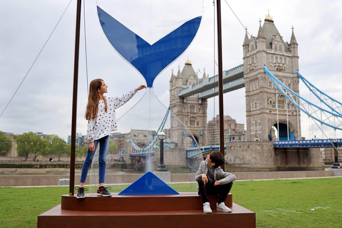 WaterAid installs striking giant hourglass by the Thames to highlight water crisis - London Post