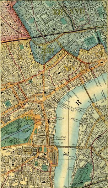 Map Of London 1850   Cross s New Plan Of London 1850  Click To Enlarge