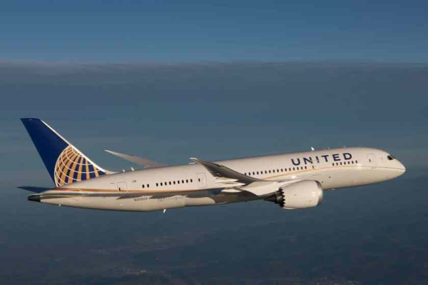 United Boeing 787 Dreamliner (Image Credit: United Airlines)