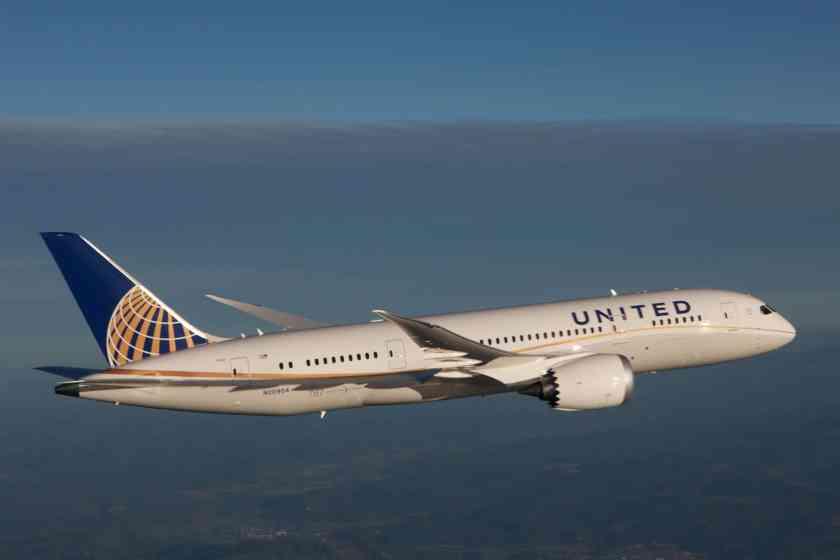 United Boeing 787 Dreamliner (Image Credit: United Airlines)