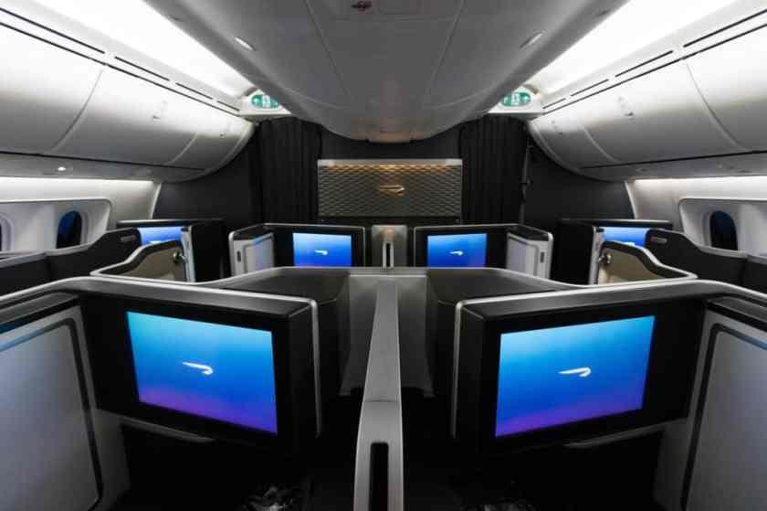 BA Boeing 787-9 First Class IFE Screen
