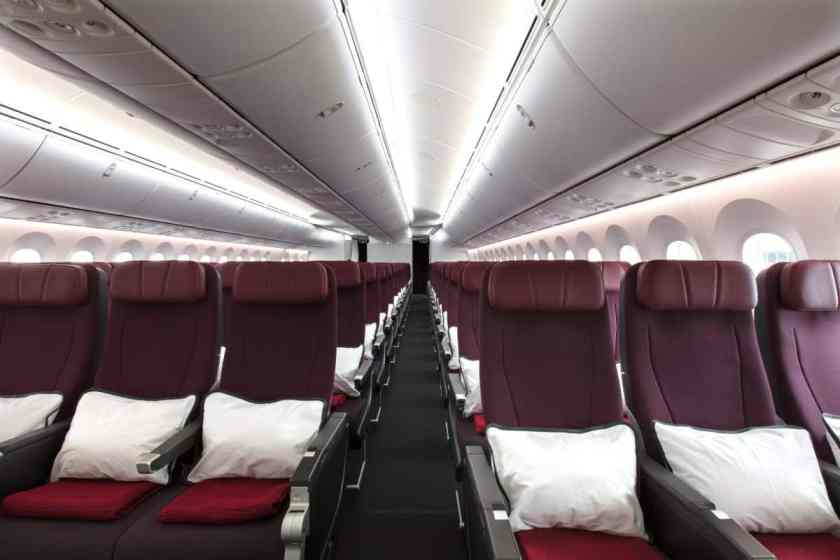 Qantas 787 Dreamliner Economy Cabin 2