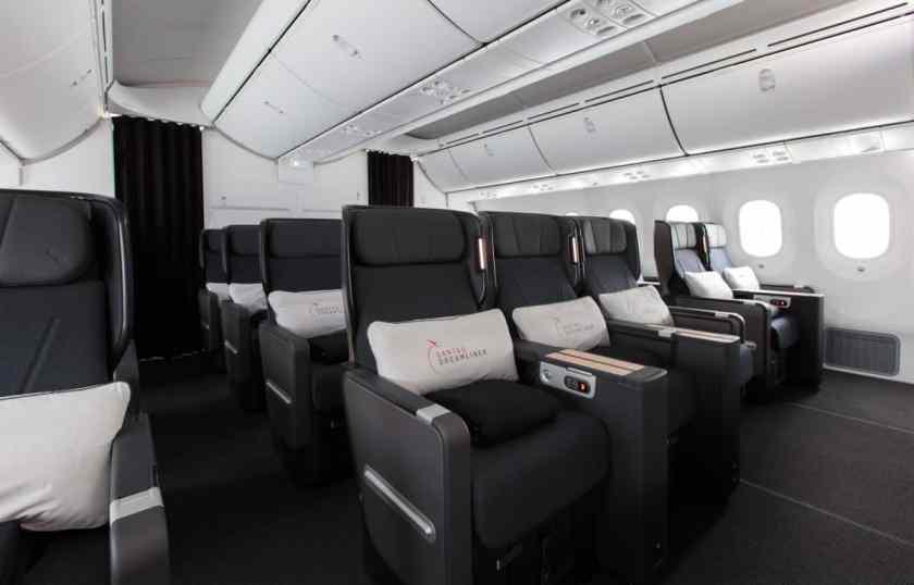 Qantas 787 Dreamliner Premium Economy Cabin