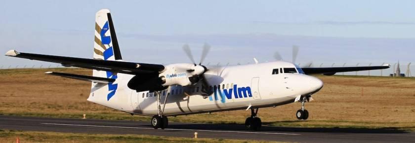 FlyVLM Fokker 50 turboprop (Image Credit: VLM Airlines)
