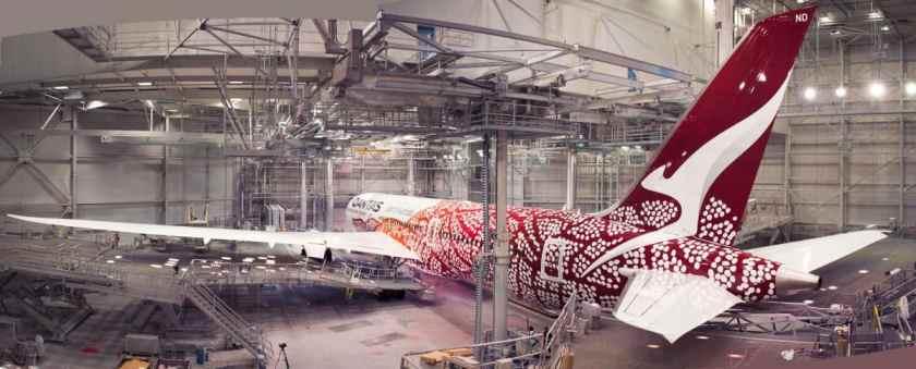 Qantas Boeing 787 Dreamliner Emily Kame Kngwarreye