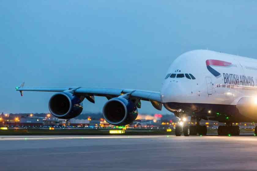 British Airways Airbus A380 Heathrow