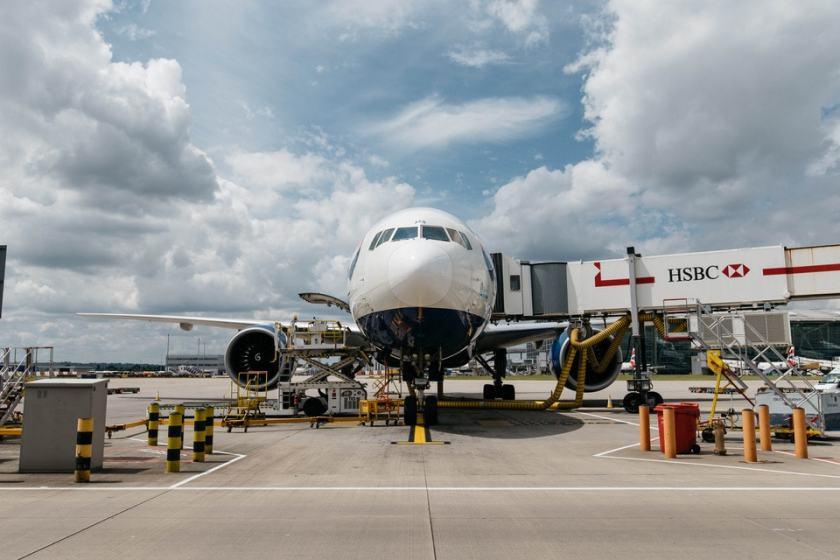 British Airways Boeing 777 at London Heathrow