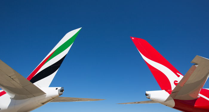Emirates & Qantas Partnership (Image Credit: Emirates)