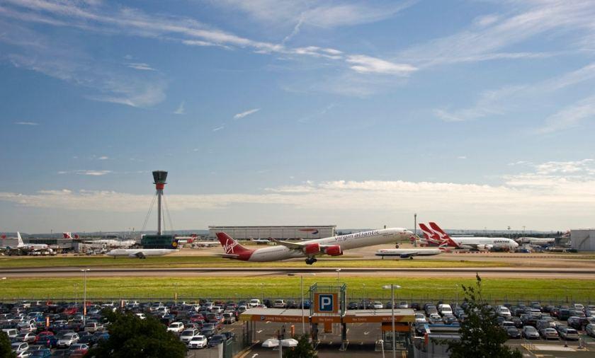 Virgin Atlantic aircraft taking off at London Heathrow