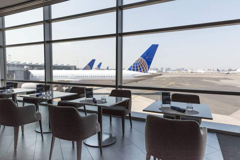 United Polaris Lounge Views Newark Liberty International Airport (Image Credit: United Airlines)