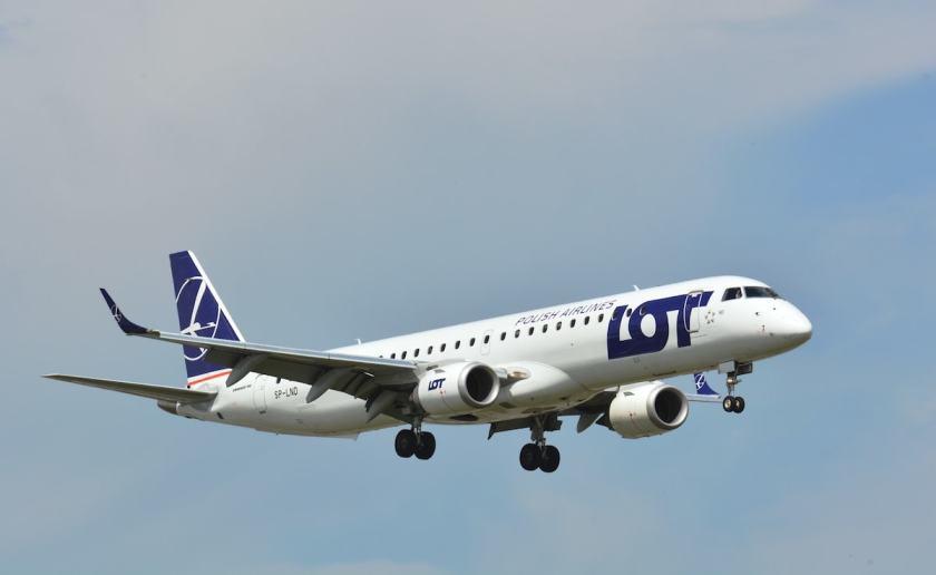 LOT Polish Airlines Embraer E195 aircraft