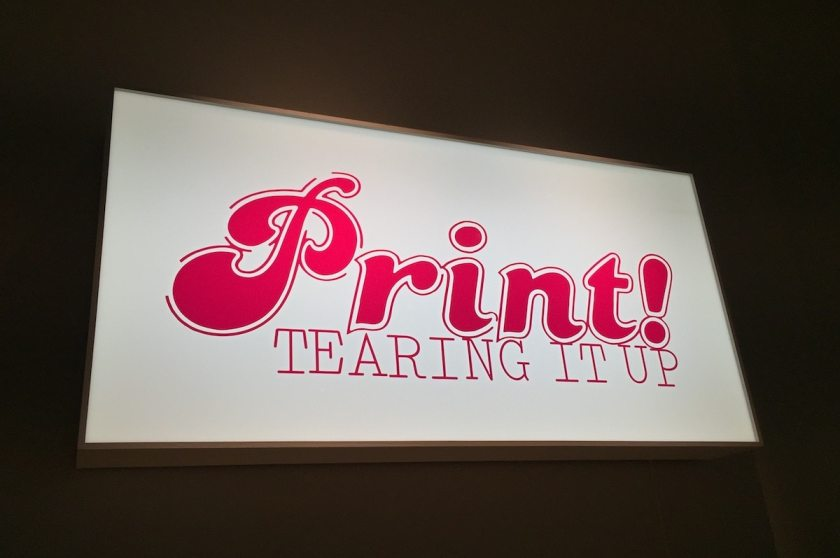"""Print Tearing It Up"" Somerset House, London"