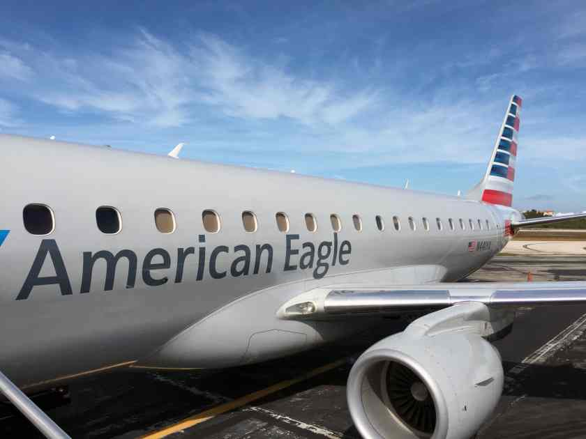 American Eagle Embraer E175 aircraft at Key West airport
