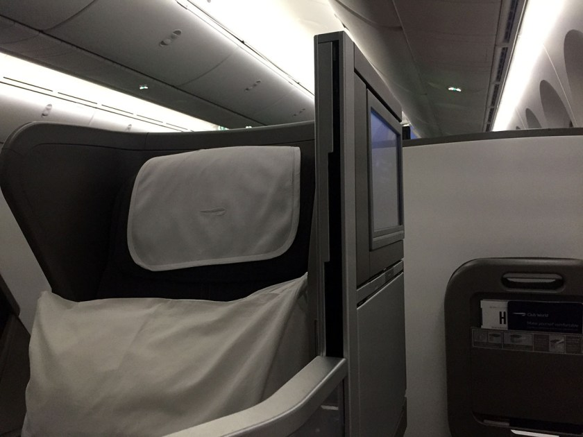 Seat 10B, Club World, BA Boeing 787-9 Dreamliner