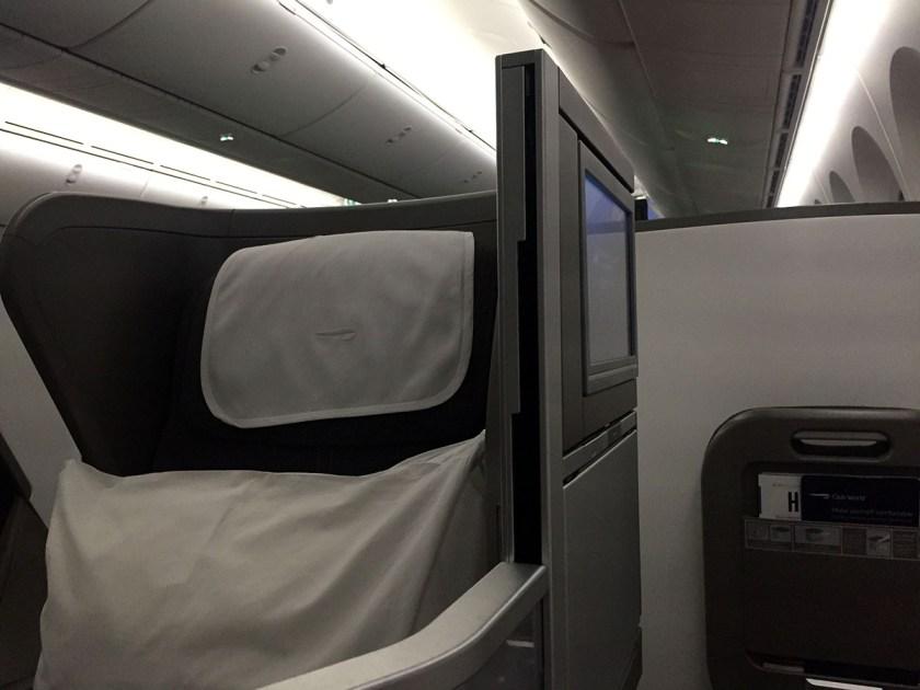 Seat 10B, Club World, BA Boeing 787-9 Dreamliner