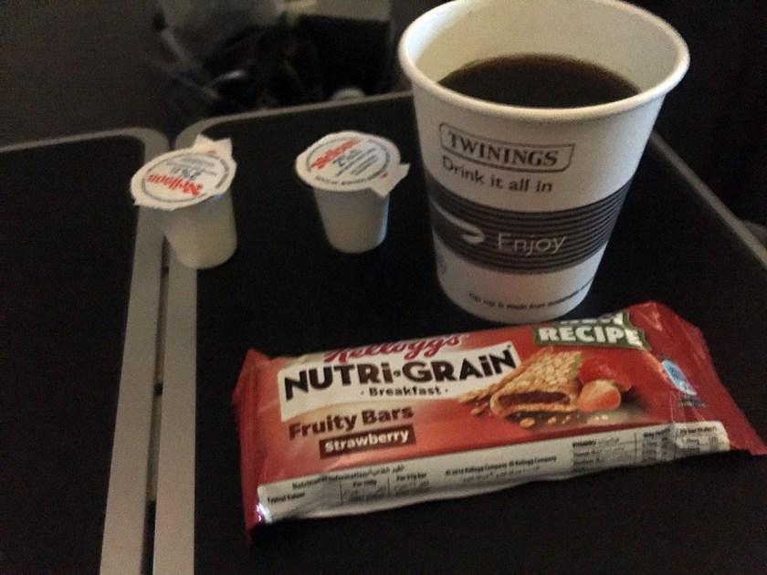 BA World Traveller Plus Breakfast Montreal - London Heathrow