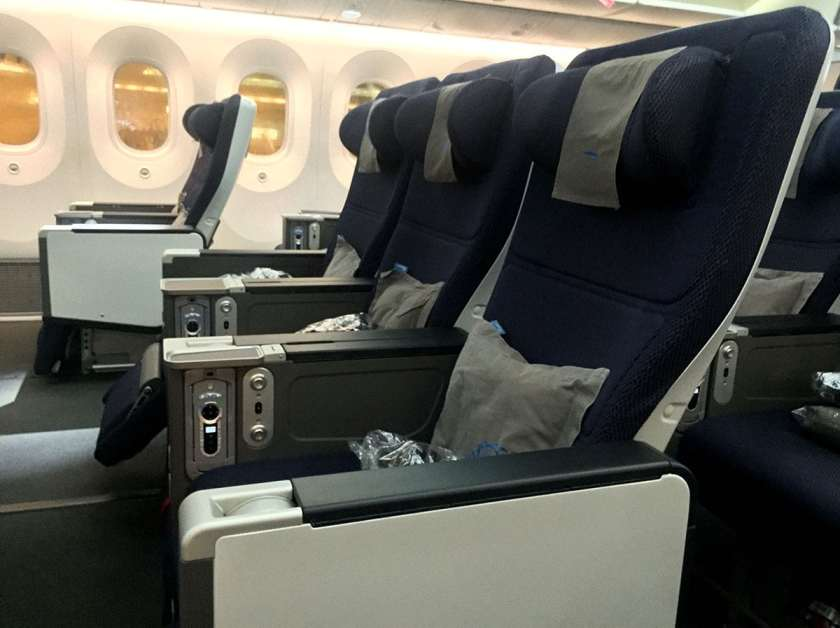 BA World Traveller Plus Cabin Boeing 787 Aircraft