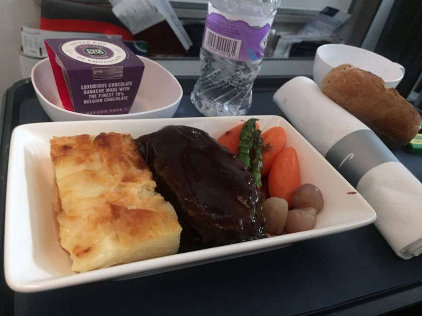 BA World Traveller Plus Meal London Heathrow - New York JFK