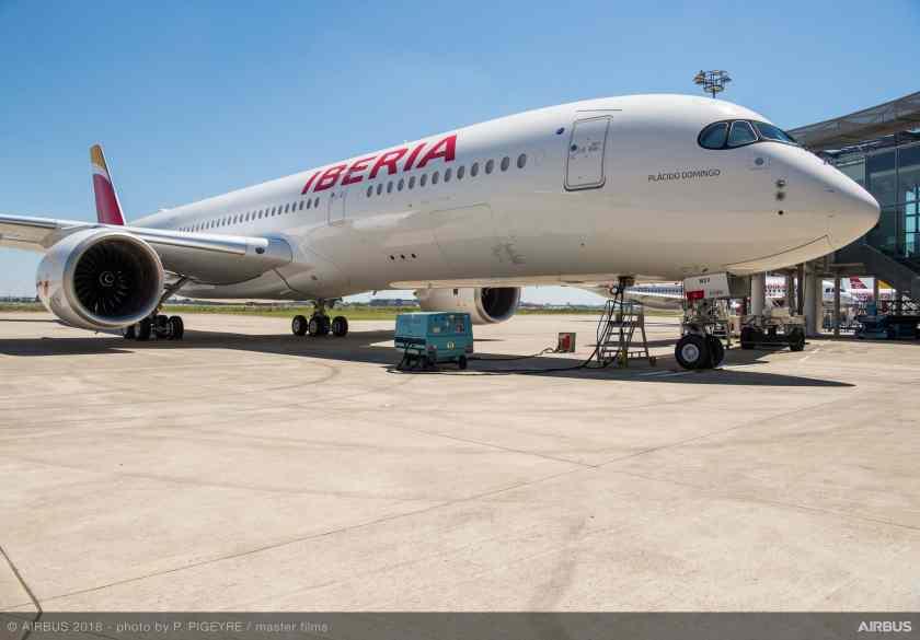 Iberia Airbus A350-900 (Image Credit: Airbus)