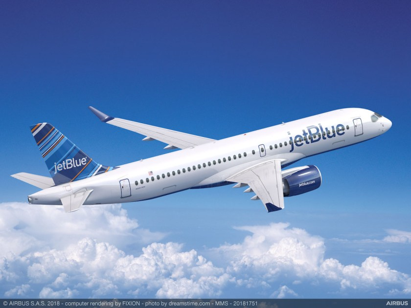 jetBlue Airbus A220-300 aircraft