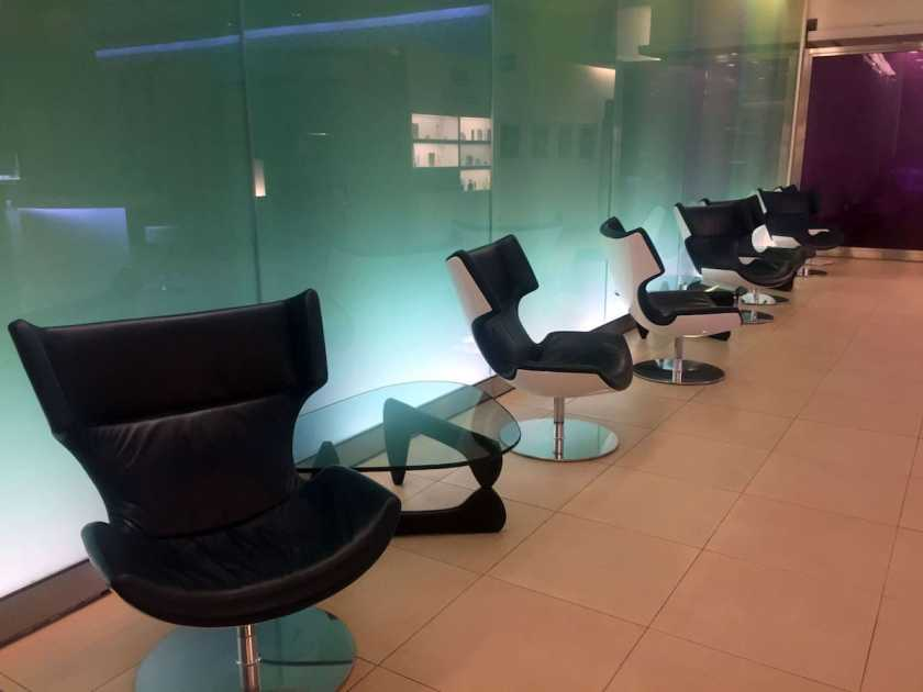 BA London Heathrow Terminal 5 Arrivals Lounge Seating Area