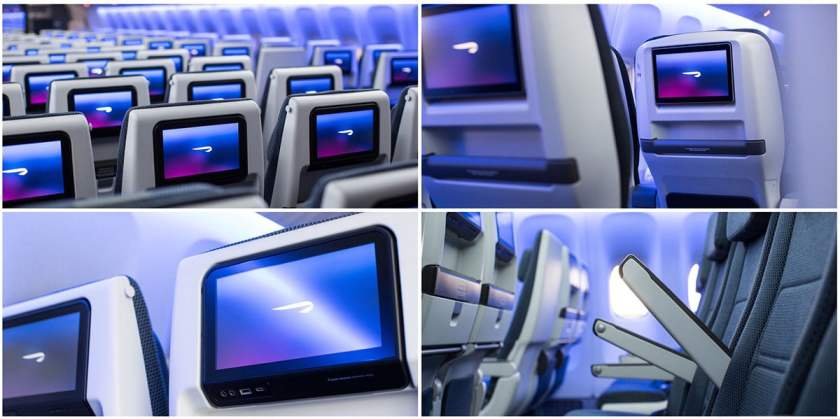 Refurbished British Airways Boeing 777 World Traveller Cabin