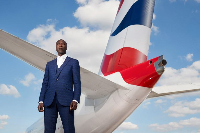 Ozwald Boateng OBE at London Heathrow